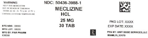 MECLIZINE HYDROCHLORIDE (MECLIZINE HYDROCHLORIDE) TABLET
