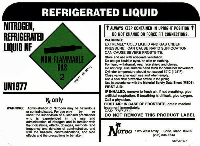 NITROGEN NF LIQUID LABEL