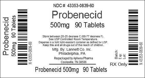 PRINCIPAL DISPLAY PANEL - 500mg