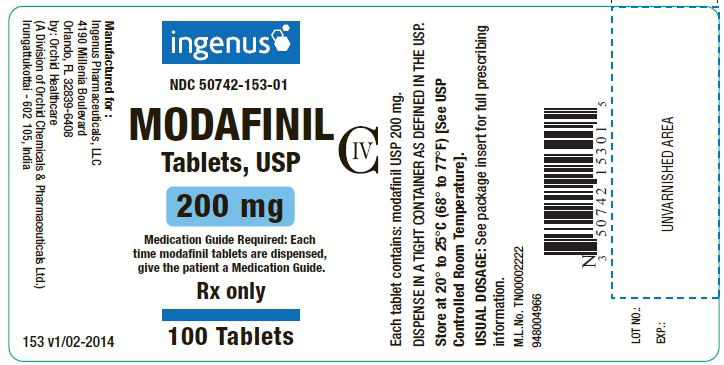 Modafinil By Ingenus Phamaceuticals Llc