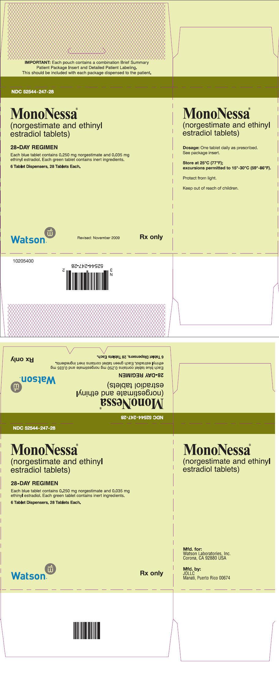 contraceptive Mononessa oral
