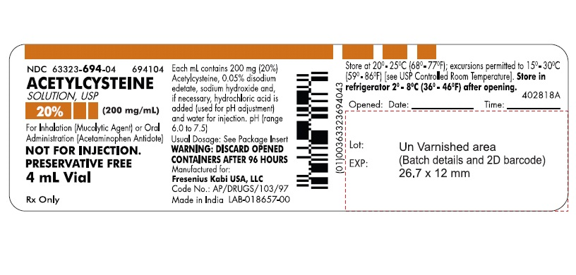 Acetylcysteine (by Fresenius Kabi USA, LLC)
