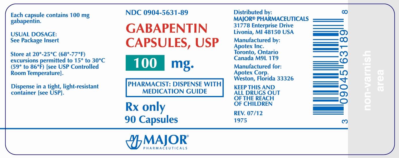 neurontin capsule package insert