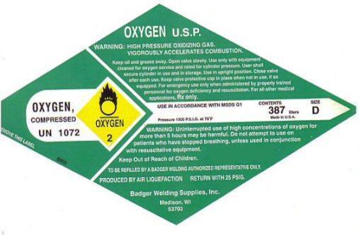 OXYGEN By Badger Welding Supplies Inc