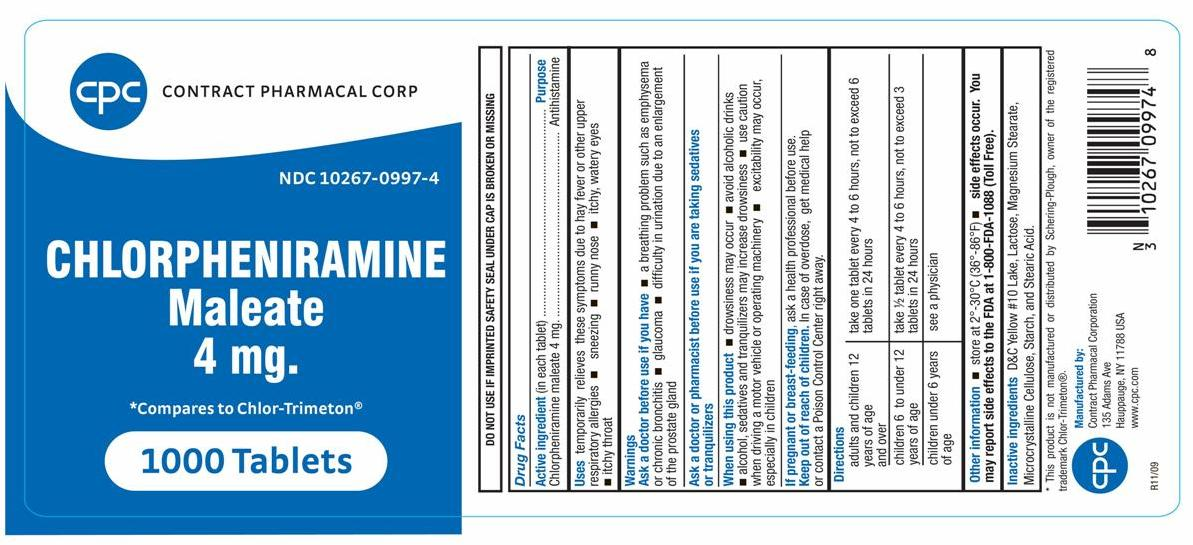 Chlorpheniramine Maleate (by Contract Pharmacal Corp)
