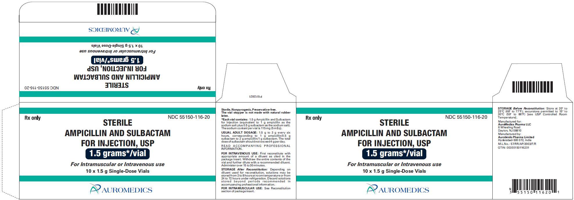 ampicillin and sulbactam