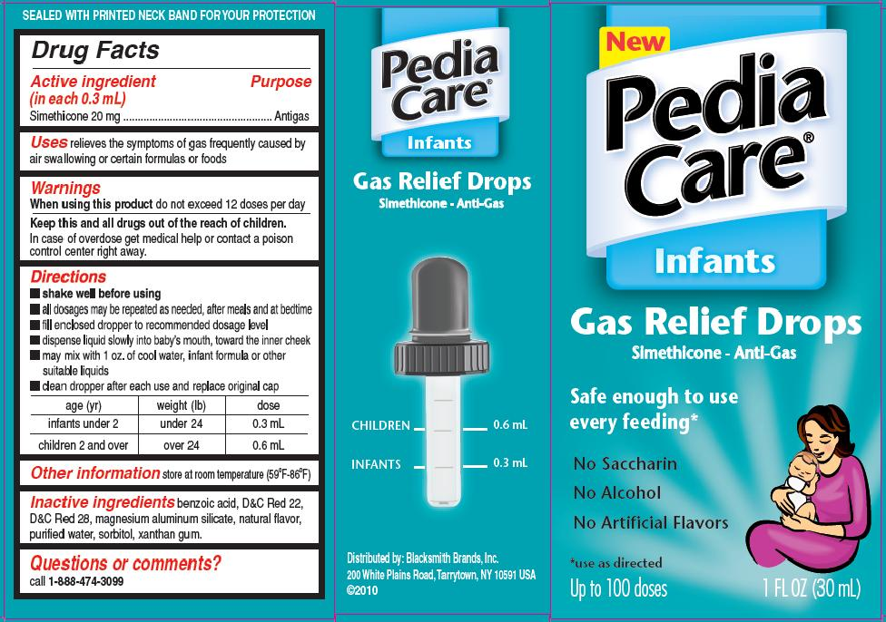 Pediacare infants gas relief by blacksmith brands inc