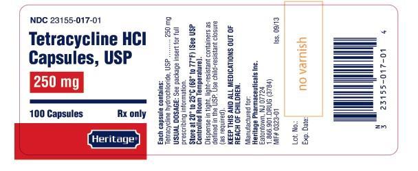 Tetracycline prescription