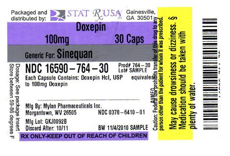 PACKAGE LABEL - DOXEPIN 100 MG  CAPSULE