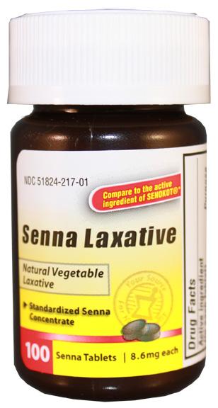 Senna laxative