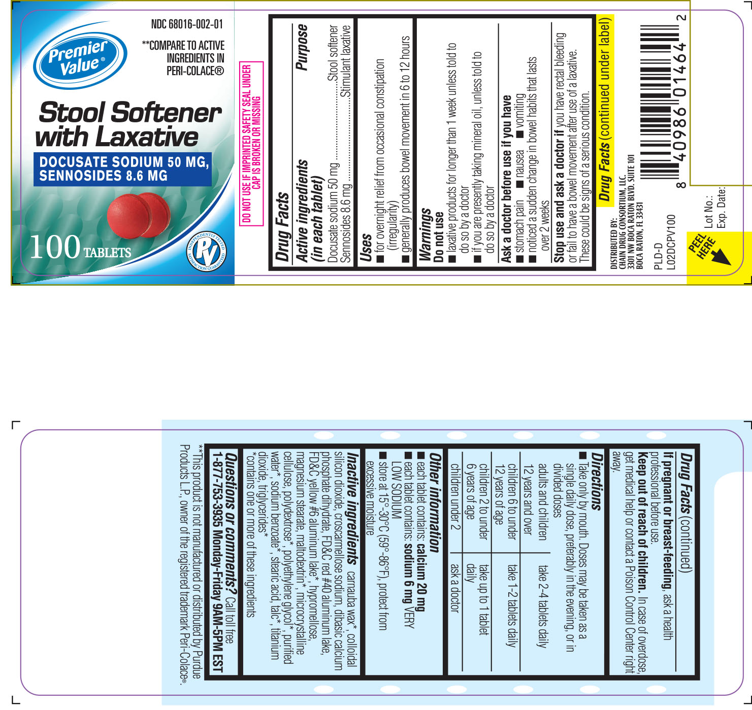 Stool Softener With Laxative By Chain Drug Consortium