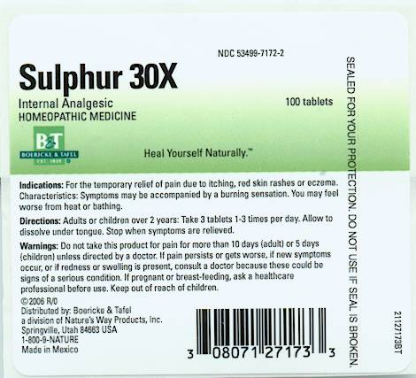 Sulphur (by Nature's Way Products, Inc )