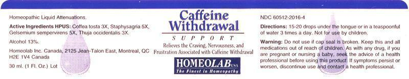 CAFFEINE WITHDRAWAL SUPPORT (by HOMEOLAB USA INC )