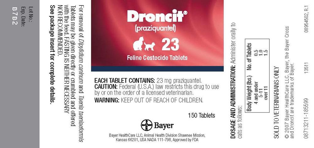 Droncit Feline Cestocide (by Bayer HealthCare LLC Animal