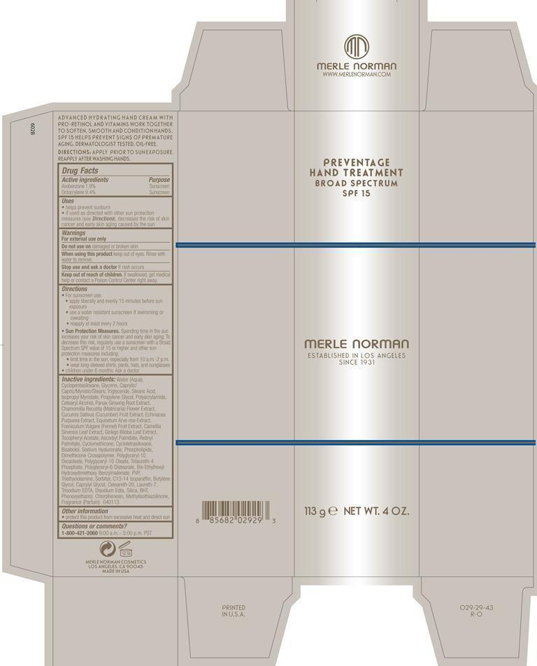 Preventage Hand Treatment Broad Spectrum SPF 15 (by Merle
