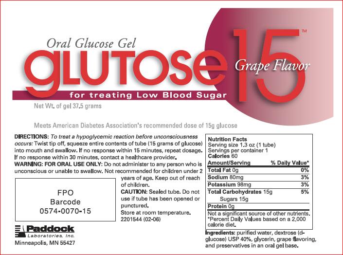 Glutose 15 (by Paddock Laboratories, LLC)