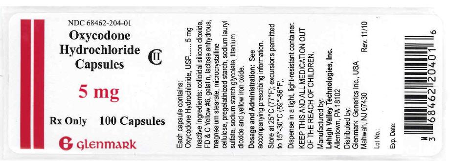 Oxycodone 5mg capsules