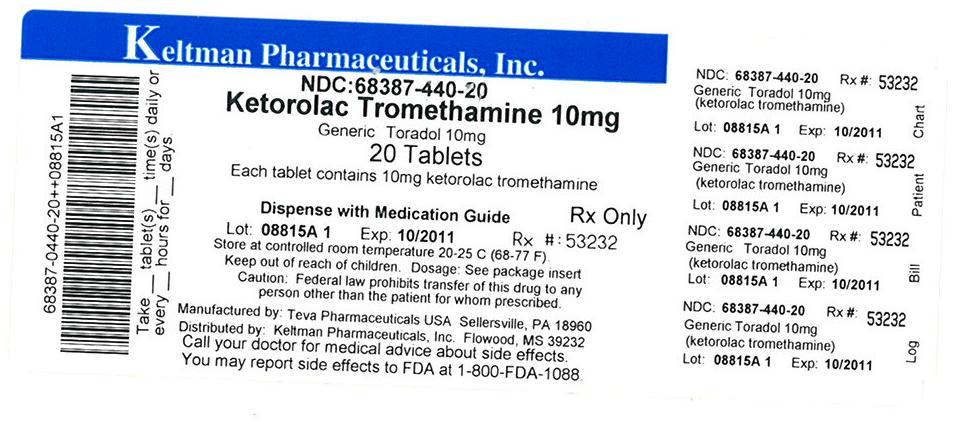 Image of 10 mg Label