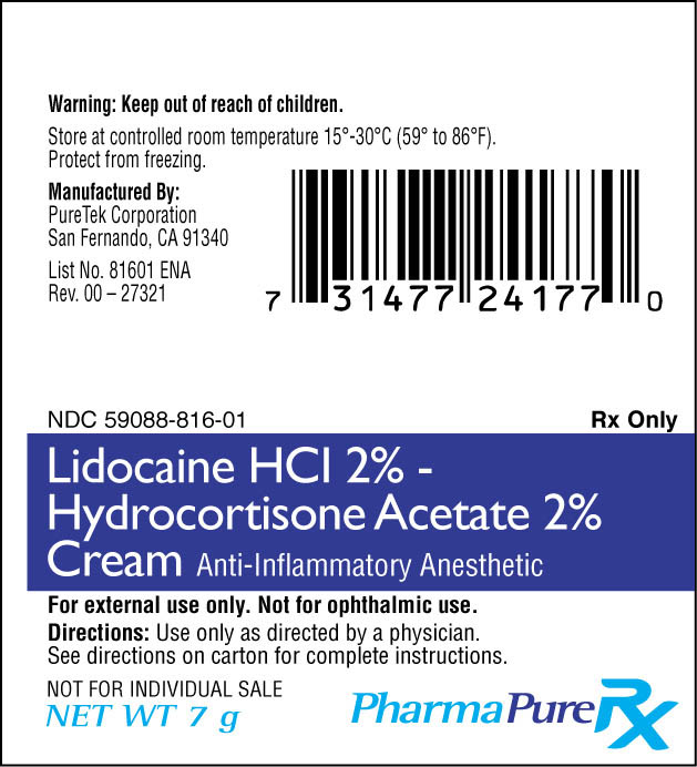 Lidocaine HCl - Hydrocortisone Acetate (by PureTek Corporation)