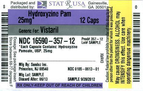 PACKAGE LABEL - HYDROXYZINE PAMOATE 25 MG  CAPSULES