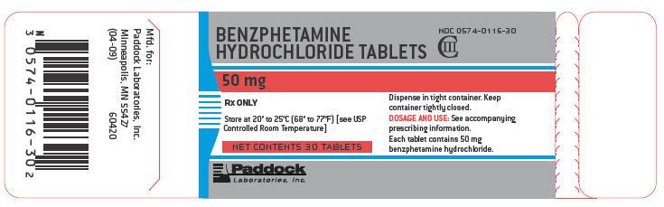 Benzphetamine Hydrochloride (by Paddock Laboratories, Inc )